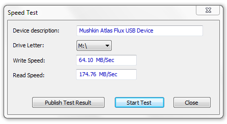 Mushkin Enhanced Atlas FLUX eSATAp Speed Test