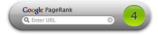 Dashboard Google PageRank Widget
